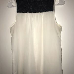 Tops - Sheer Sleeveless Lace Shirt